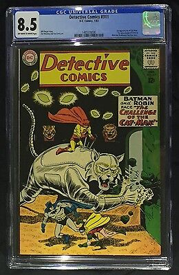 Detective Comics # 311 CGC 8.5 (1963) 1st appearance of Cat-Man; OW/W pages