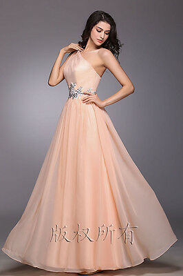 champagne Chiffon Bridesmaid Formal Gown Ball Party Cocktail Evening Prom Dress