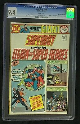 Superboy & the Legion of Super-Heroes #208 CGC 9.4 (1975) Don Rosa collection