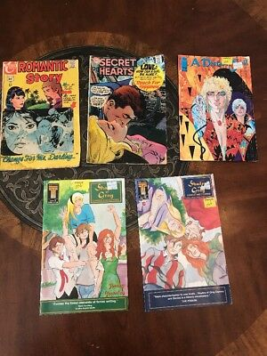 Comic Book Lot; Romantic Story, Secret Hearts, A Distant Soil, Shades Of Gray