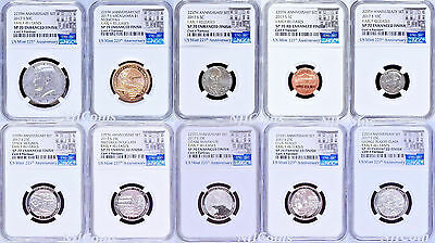 2017 US Mint 225th Anniversary Enhanced Uncirculated 10-Coin set NGC SP70 ER