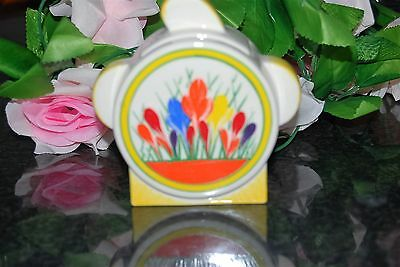 Superb Art Deco Clarice Cliff  CROCUS pattern  Lidded SUGAR BOWL by MOORLAND