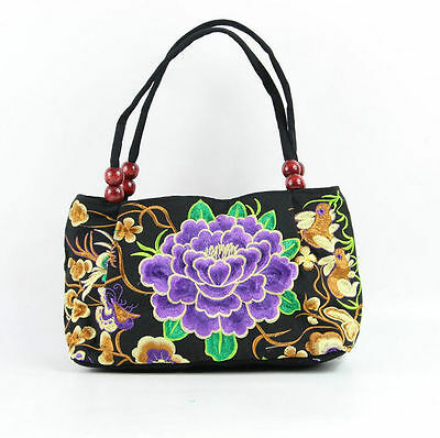 Chinese embroidered flowers handbag tote cotton bag tribal ethnic hmong Bags