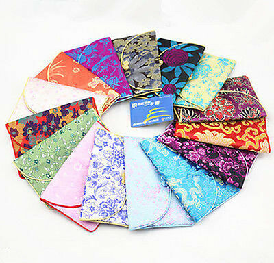 Wholesale10sets/30pcs Chinese Handmade Vintage Silk Purse/Wallet/Pouch Card bag