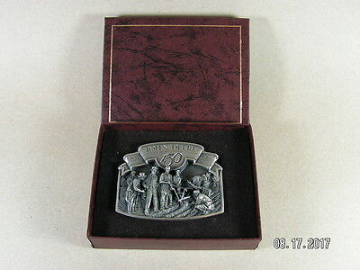 1987 John Deere Silver 150th Belt Buckle Numbered Limited Edition #20530 L00K!