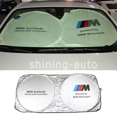 Hot Anti-UV Car Front Rear Window Shade block Sunshade Sun Cover Block For BMW M