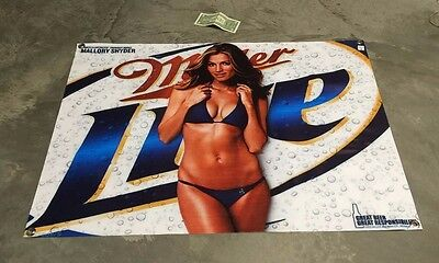 Miller lite beer bottle banner bikini girl poster bar equipment glass cap model