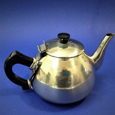 Classic Vintage Style - Stainless Steel Tea Pot - 3-4 Cup (700ml) - Black Handle