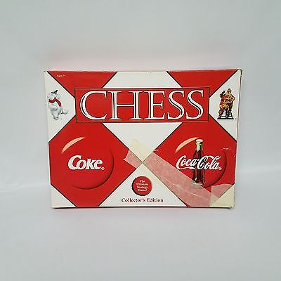 Coke Coca Cola Collectors Edition Chess Set Complete USAopoly 2002