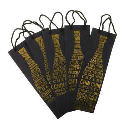 5pcs High Quality Wine Bottle Tote Bags Red Wine Champagne Bags Silver/Gold/Red