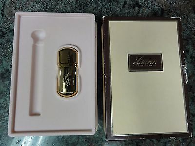 Vintage Polo Ralph Lauren Perfume Gold Flask Purse Vial with Funnel in box