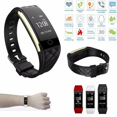 S2 Heart Rate Bracelet GPS Smart Watch Wristband Sport Fitness Tracker & Fun CA