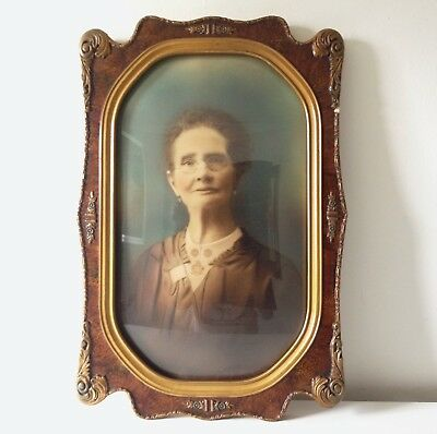 Vintage Portrait in High Quality Decorative Frame with Curved Glass