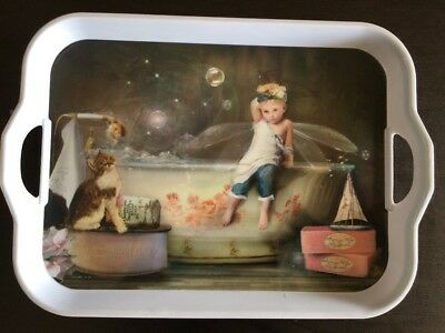 Vintage Print French Country Serving Tray - Charlotte Bird