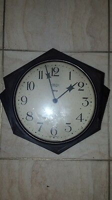 "Smiths Bakelite York wall clock unusual art deco style 8"" dial 1930's"