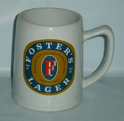 Fosters Lager Beer Westminster Stein in great condition for home bar, collector