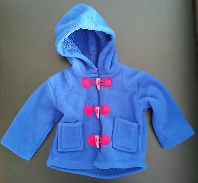 PUMPKIN PATCH Baby Fleece Duffle Winter Jacket Paddington Bear - Size 00