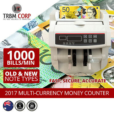 AUSTRALIAN Note Counter Counterfeit Detection Automatic NEW & Old Notes DIGITAL