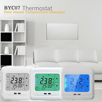 Touch Screen 7 Day Programmable Smart Thermostat Electric Heating Temp Control