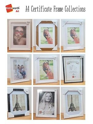 Document Frame A4 A3 A2  White Black Silver Timber Photo Picture frames Gift