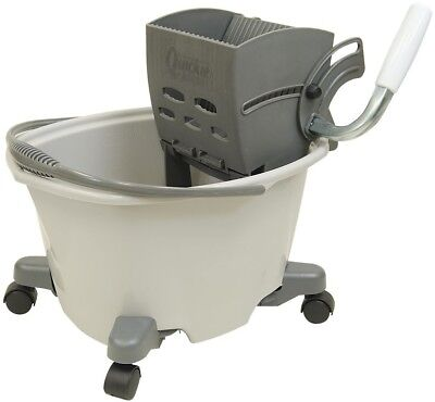 Quickie 5-Gallon Commercial Mop Wringer Bucket with Wheels