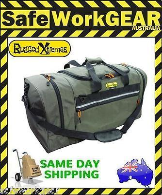 Rugged Xtremes Essential Canvas GREEN Bag Equipment PPE Storage Travel Luggage