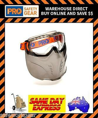 ProChoice CLEAR Vadar Goggle Visor Face Shield Combination Protective Eyewear