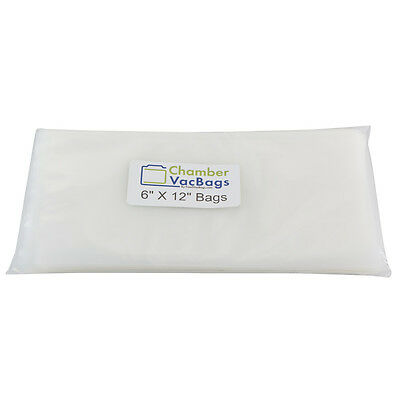 "500 ChamberVacBags 6""X12"" Chamber Vacuum Pouches 3 mil - Sous Vide, Food Storage"