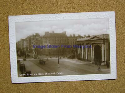 1936 Photo Postcard Dame Street & Bank of Ireland,Dublin,Ireland.