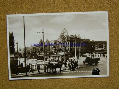 1936 Photo Postcard O'Connell Street & Bridge,Dublin,Ireland.