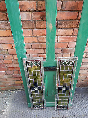 Antique Front Door Leaded Stained Glass Bullseye Design COLLECTION NOTTINGHAM