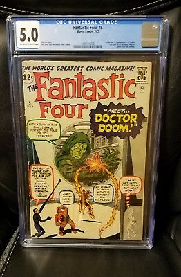 Fantastic Four #5 First appearance of Doctor Doom CGC 5.0 Hard to find