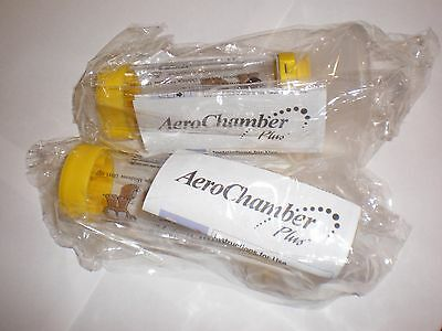 2 x Aerochamber Plus with mask for children Yellow