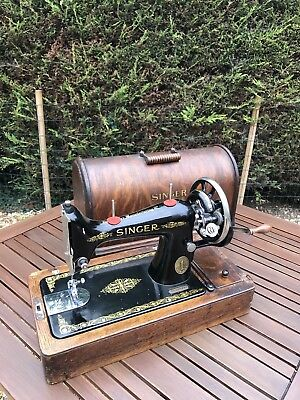 1916 Singer 99K Sewing Machine Working Vintage Accessories Tested Hand Crank