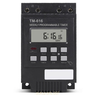DC 12V Digital LCD Display PLC Programmable Timer switch Relay 7 Days as07