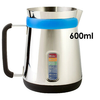Ciampa Cafe Milk Frothing Jug 600ml Coffee Jug Barista Style Perfect Everytime