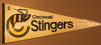 Vintage 1975 WHA World Hockey Association | Cincinnati Stingers | 30x12 Pennant