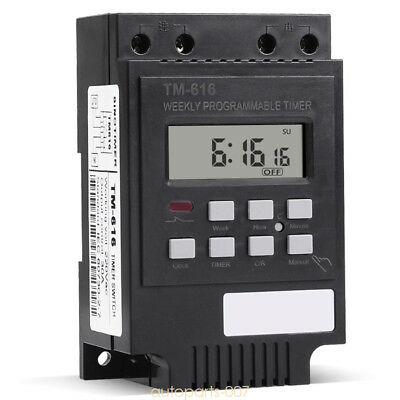 Electronic Weekly Programmable Digital Timer Switch Relay Control 220V 30A as07