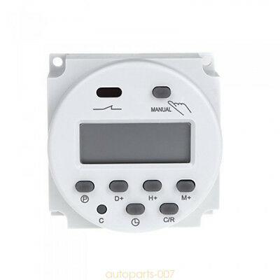 Digital Time Switch Electronic Timer LCD Display Power Relay Programmable as07