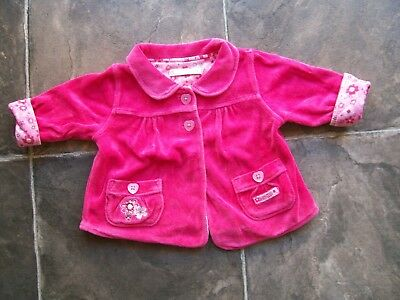 Baby Girl's Pink Lined Velour Jacket/Coat Size 0