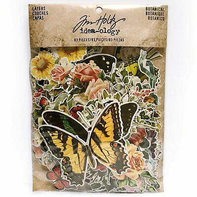Tim Holtz Idea-Ology - Layers Die Cuts - Botanical - 83 Pieces