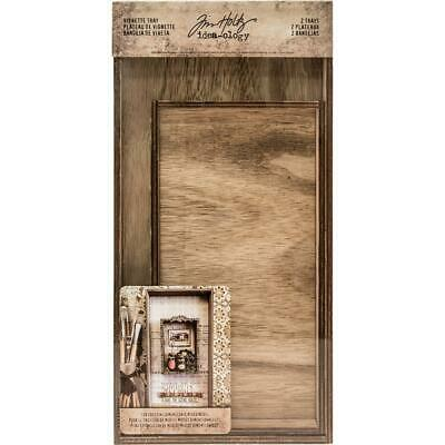Tim Holtz Idea-Ology - Wooden Vignette Trays - 2 Pieces