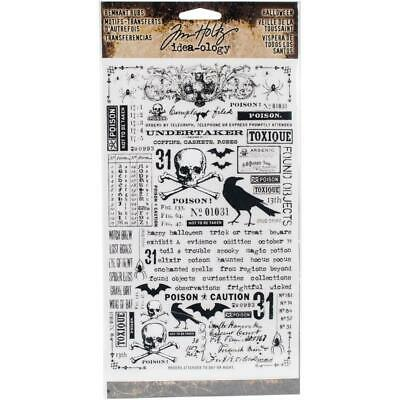Tim Holtz Idea-Ology - Remnant Rub-Ons - Halloween - 2 Sheets