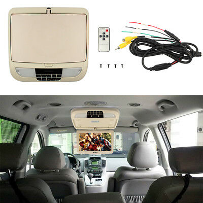 9 Inch Flip Down TFT LCD Auto Overhead Monitor Car Roof Mount HD Screen Rotating
