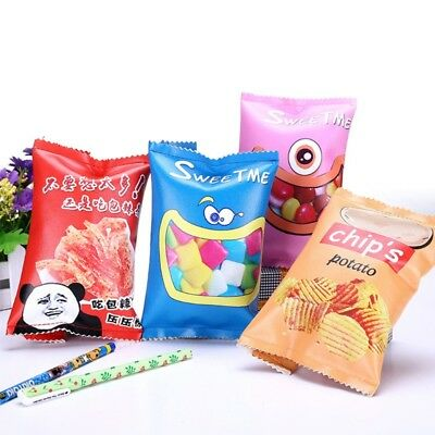 Simulation Of Candy Spicy Cartons Pencil Case Kawaii PU Pen Bag Stationery Pouch