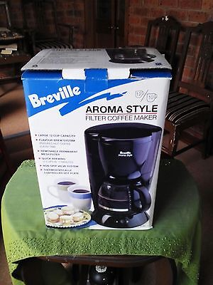 BREVILLE Aroma Style Filter Coffee Maker-12 Cup Capacity   40 Bonus Filters