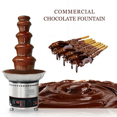 304SS Hot Luxury Chocolate Fondue Fountain NEW ITOP 5 Tiers Commercial CE party
