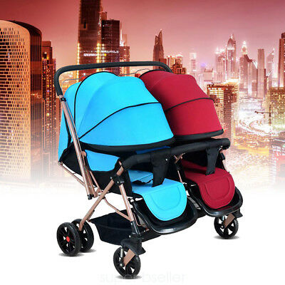 Twins Stroller Baby Toddler Tandem Double Stroller Twin Pushchair Pram Buggy