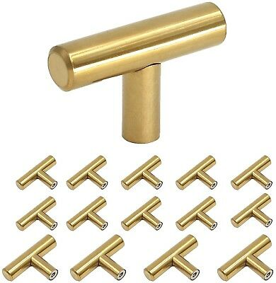 Drawer Pulls Knobs Brass Cabinet Modern Gold Kitchen Door Handles Homdiy Pack 15