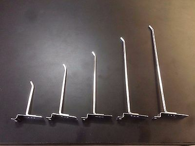 10 slatwall hooks 300mm long 6mm steel BRAND NEW excellent quality shop fitting